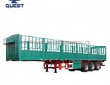Vegetables Coal Livestock Transport 3 Axles Stake Fence Semi Trailer