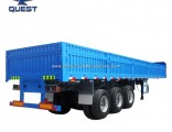 40FT Container Bulk Cargo Transport Flatbed Side Panel Semi Trailer
