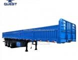 Tri-Axle 40tons Curtain Side Wall Semi Truck Fence Cargo Trailer