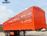 40FT Tri-Axle Livestock Farm Goods Carrier Stake Truck Semi Trailers