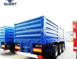 Quest 3 Axle 40FT Side Wall Flatbed Container Cargo Trailer