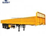 40FT 3axle Fuwa Flatbed Truck Semi Side Wall Cargo Trailer