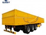 Widely Used 1000mm High 50t 60 Tons Dropside Semi Cargo Trailer