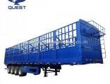 50-80ton Cattle Livestock Stake Cargo Truck Tractor Semi Trailer