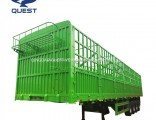 50-80ton Cattle Livestock Stake/Basket Utility Cargo Truck Tractor Semi Trailer