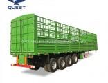3 Axle Livestock Transport Fence Truck Trailer Stake Semi Trailer