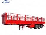 3axle 50tons Animal Livestock Bulk Cargo Truck Semitrailer Fence Trailer