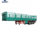 Quest 3 Axles Fence Trailer Flatbed Full Stake Trailer