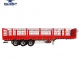 High Wall 3 Axles Beer Transport Air Suspension Fence Trailer