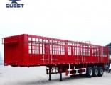 3axles Dropsides Cargo Fence Semi Trailer Wall Panels Truck Trailer