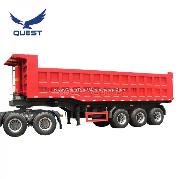 Quest Tri-Axles 45 Ton End Dumper Trailer Tipper Truck Trailer