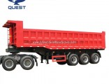 3axles Hyva Hydraulic Cylinder Heavy Duty End Dump Semi Trailers