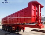 Heavy Duty 5 Axles 45cubic Dump Trailers for Ghana Market