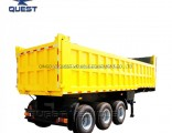 50ton Used Tipper Semi Trailer Hydraulic Dump Truck Trailer for Sale