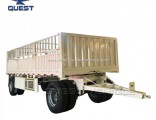 Drawbar 40tons Fence Cargo Full Trailer