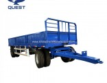 2 Axles Draw Bar Side Panel Cargo Full Trailer