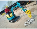 New Excavator Price, Mini Excavator Supplier in China, 0.8ton, 1.2ton 1.5ton Mini Farm Digger for Sa