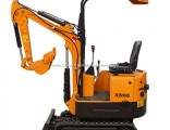 Rubber Track Crawler Excavator Mini Excavator 0.8t, 1.5t Cheap Farm Digging Machine for Sale in Euro