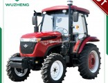 Chinese New Farm 55HP 4WD Tractor with Cabin for Sale