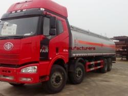 FAW J6 8*4  29000 liter oil tank truck