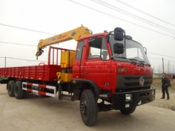 10tons boom crane mounted tipper truck