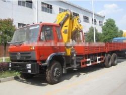 Dongfeng 10 ton knuckle boom truck mounted crane