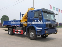 Howo 4x4 off-road truck mounted crane