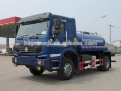 4x4 Howo truck mounted water tank