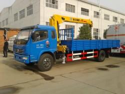 dongfeng duolika 4ton crane tipper truck