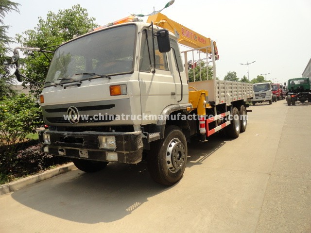 dongfeng 12ton truck with loading crane