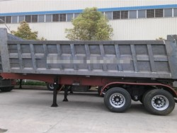 60 tons rear or side dump tipper truck trailer