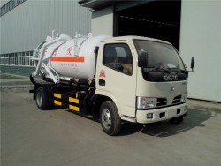 dongfeng 4x2 sewage suction tanker truck