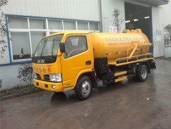 dongfeng 95hp 3 cubic meter mini vacuum sewage suction truck