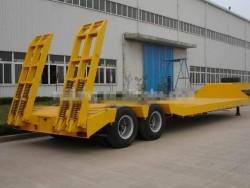 2 axle Heavy duty Machinery Transport Low Bed Semi Trailer