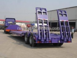 CIMC Cheap & Best price Low Bed Semi-Trailer with two axles