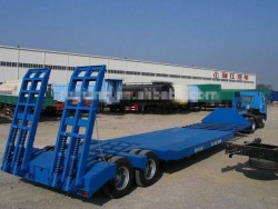 high quality Two-Axle Low Bed Semi-Trailer