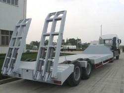 Two axle CIMC lowbed semi trailer