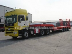 best selling China 4 Axles Low Bed Trailer