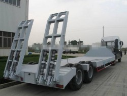 CIMC high quality Two-Axle Low bed Trailer