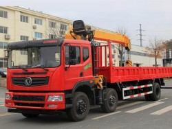 Dongfeng 6x2 10 Ton Knuckle Boom Truck Mounted Crane