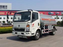 HOWO light truck 4x2 5000 liters capacity fuel tank truck