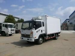 SINOTRUK HOWO 6 wheel 5ton refrigerator truck van truck