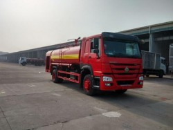 SINOTRUK HOWO 266HP 4x2 15000 liter water tank fire vehicle