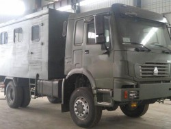 HOWO 4x4 290hp All wheels driving mobile maintenance truck