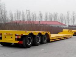 3 axle 60ton price low bed truck semi trailer