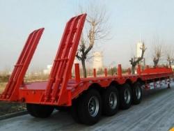 4 axle low bed semi trailer lage scale low loading trailer