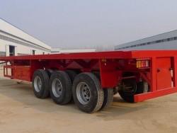 3 Axle 40ft low boy flatbed semi trailer