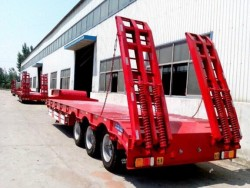 4 axle low bed truck semi trailer