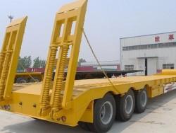2 axle 3 axle standard gooseneck low bed semi trailer
