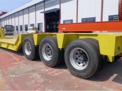 Hydraulic Gooseneck 3 Axles 60 ton heavy loading Low Bed Trailer truck